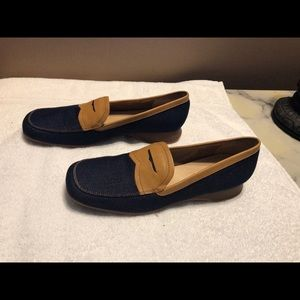 Shoes - TALBOTS DENIM PENNY SAVER LOAFERS